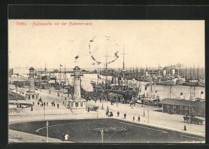 AK Stettin, Hafenpartie vor der Hakenterrasse