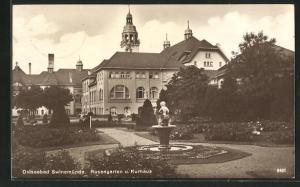 AK Swinemünde, Rosengarten und Kurhaus