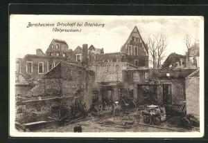 AK Ortelsburg, Zerschossene Ortschaft