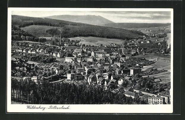 AK Waldenburg-Dittersbach, Totalansicht 0