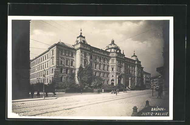 AK Brünn / Brno, Blick zum Justiz-Palast 0