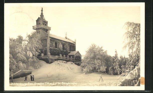 AK Zobtenberg, Bergkirche im Winter 0