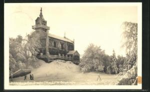 AK Zobtenberg, Bergkirche im Winter