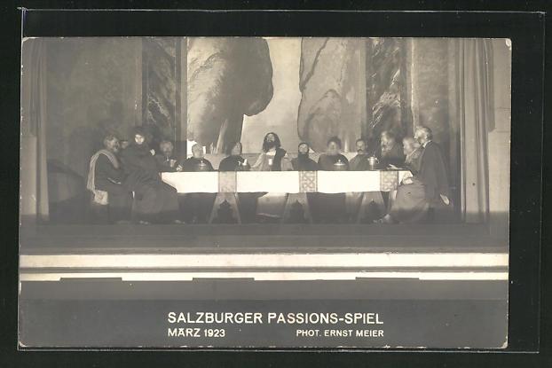 AK Salzburg, Salzburger Passionsspiel März 1923, Das Abendmahl 0