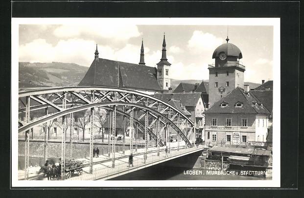 AK Leoben, Stadtturm an der Murbrücke 0