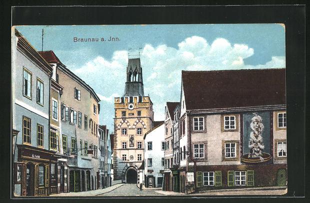 AK Braunau a. Inn, Häuser am Stadttor 0