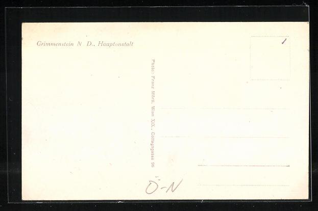 AK Grimmenstein, Blick zur Hauptanstalt, Eingang zur Anstalt 1
