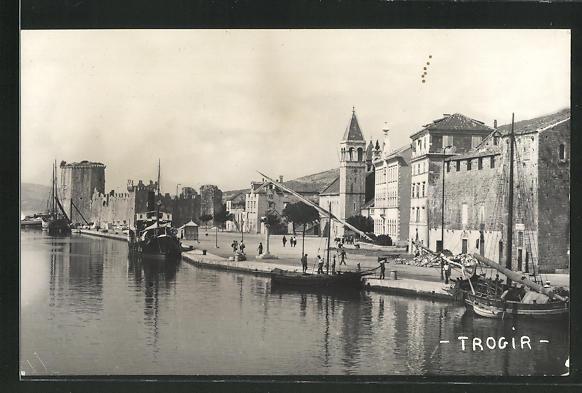 AK Trogir, Blick in den Hafen 0