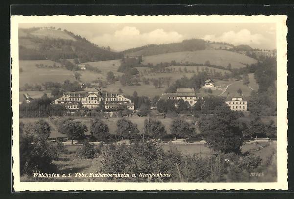 AK Waidhofen a.d. Ybbs, Buchenbergheim und Krankenhaus 0