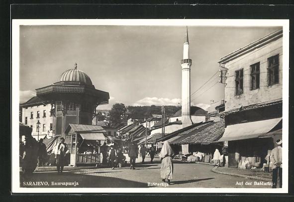AK Sarajewo, Geschäfte und Moschee auf der Bascarsij 0