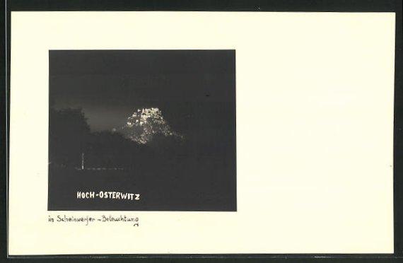 AK Adria, Schloss Hoch-Osterwitz in Scheinwerfer-Beleuchtung 0