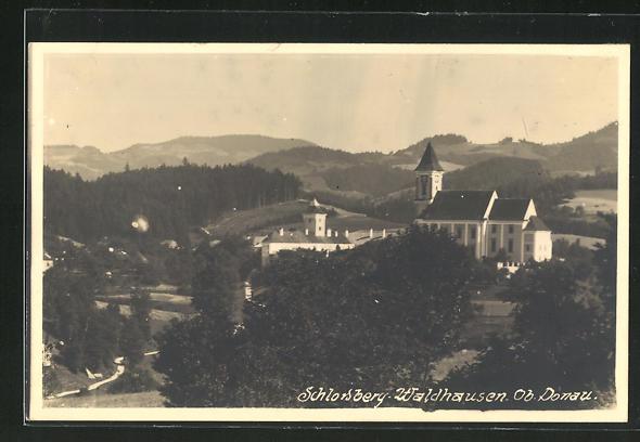 AK Waldhausen ob Donau, Blick zum Schloss Waldhausen 0