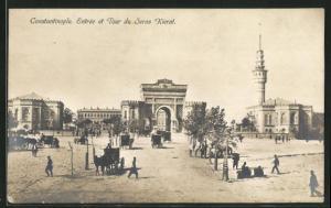 AK Constantinople / Istanbul, Entrée et Tour du Seras Kierat