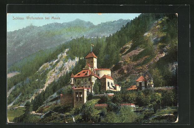 AK Mauls, Motiv von Schloss Welfenstein 0