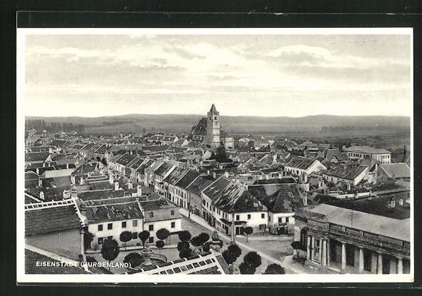 AK Eisenstadt, Panorama mit Kirche 0