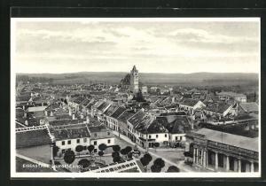 AK Eisenstadt, Panorama mit Kirche