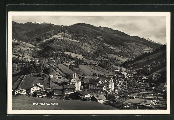 AK Wagrain, Panorama des Ortes 0