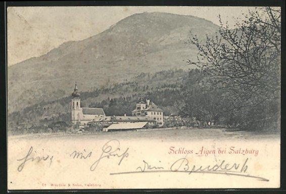 AK Salzburg, Motiv von Schloss Aigen 0