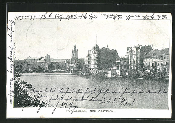 AK Königsberg, Totale vom Schlossteich 0