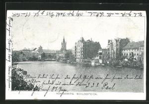 AK Königsberg, Totale vom Schlossteich