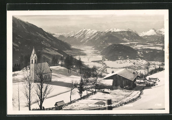 AK Mösern, Talblick im Winter 0
