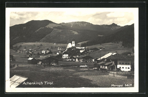 AK Achenkirch, Totale des Ortes 0