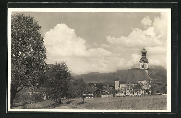 AK Going in Tirol, Blick gegen Loferer Steinberge 0
