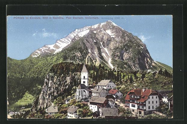 AK Purgg im Ennstale, Panorama mit Grimming 0