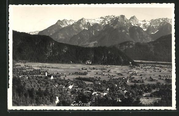 Foto-AK Ludesch, Panorama mit Umland 0