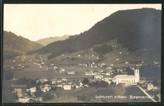 Foto-AK Hittisau, Panorama des Ortes 0