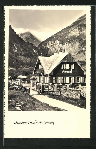 AK Böckstein-Badgastein, Alpen-Cafe Restaurant Alraune am Nassfelderweg 0