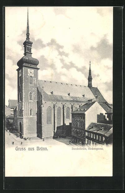 AK Brünn, Jacobskirche, Kirchengasse 0