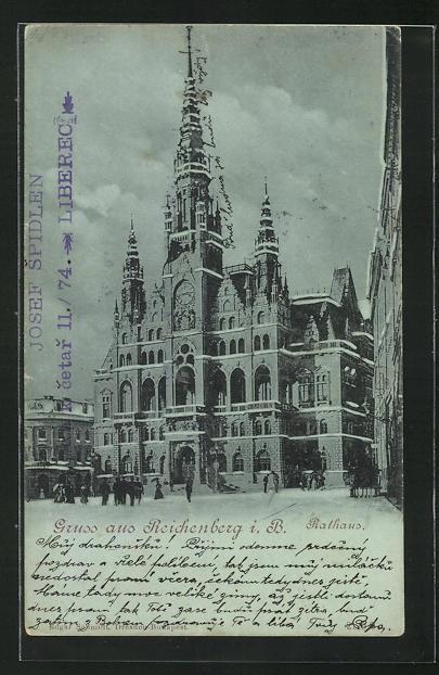 AK Reichenberg i. B., Rathaus 0