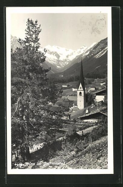 AK Trins im Gschnitztal, Teilansicht mit Blick ins Tal 0