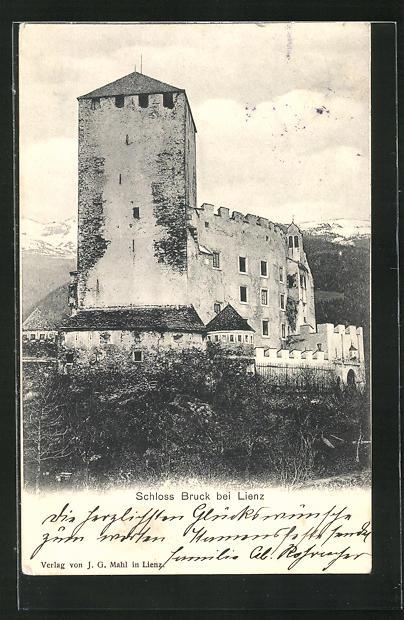 AK Lienz, Blick auf Schloss Bruck 0