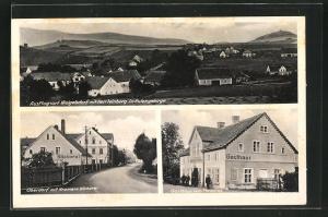 AK Weigelsdorf /Eulengebirge, Kramers Bäckerei, Gasthaus Zum Paradies