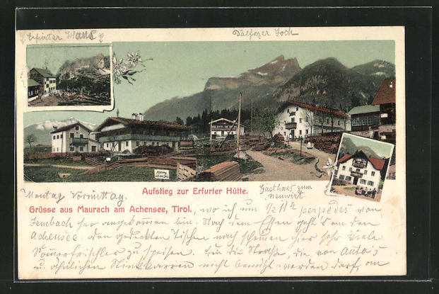 AK Maurach am Achensee, Ortspartie am Aufstieg zur Erfurter Hütte 0