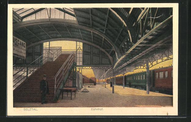 AK Selztal, Bahnhof, Innenansicht 0