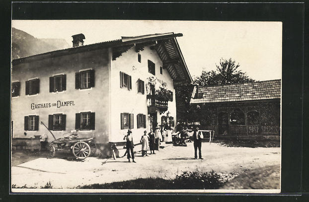 Foto-AK Niederbreitenbach, Gasthof Zum Dampfl 0