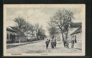 AK Weissenhöhe, Dorfstrasse mit Kindern