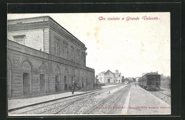 AK Valle di Pompei, Stazione della ferrovia elettrica 0