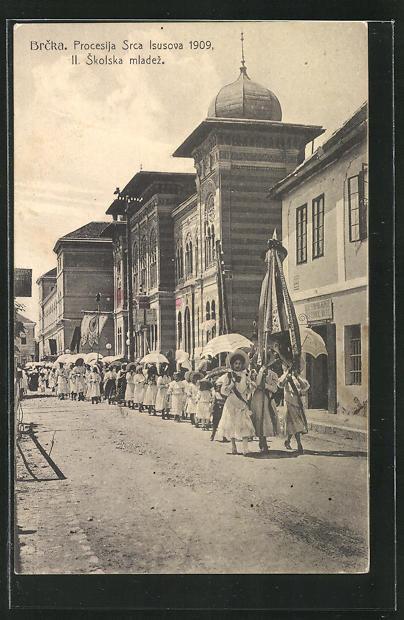AK Brcka, Procesija Srca Isusova 1909, Skolska mladez 0