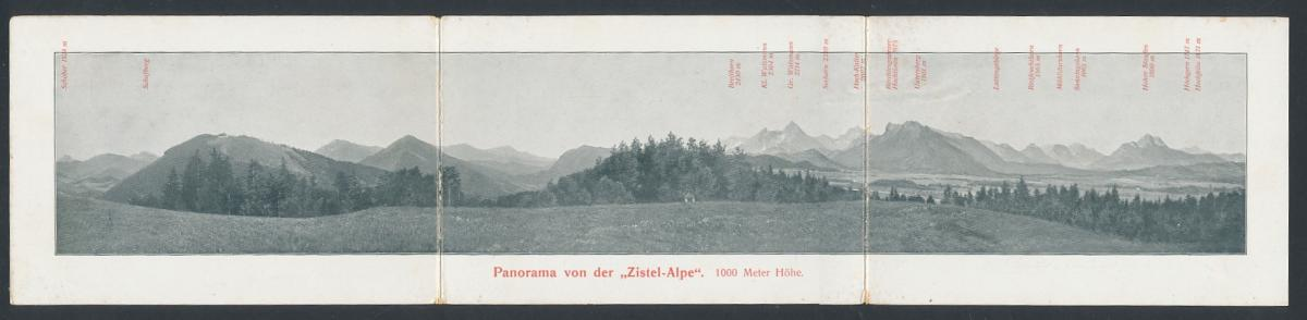 Panorama-AK Salzburg, Zistelalm, rückseitig Ansicht Restaurant & Haltestelle der Gaisberg-Zahnradbahn 0