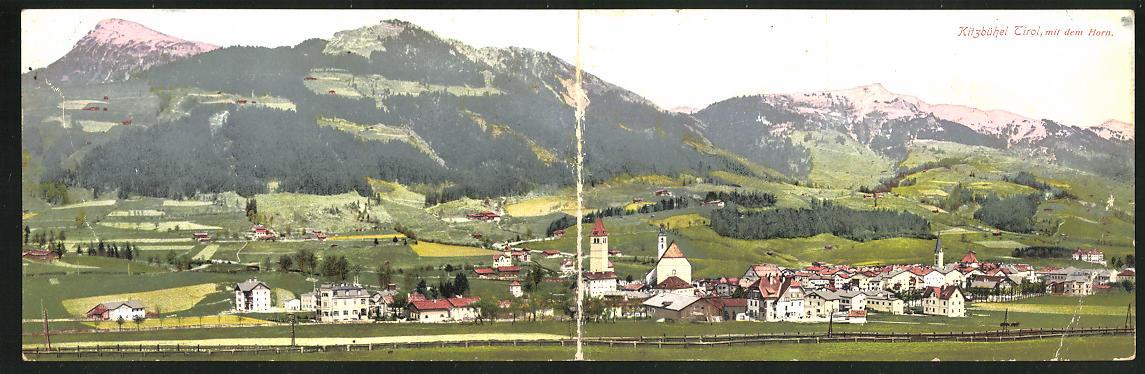 Klapp-AK Kitzbühel, Ortspanorama 0