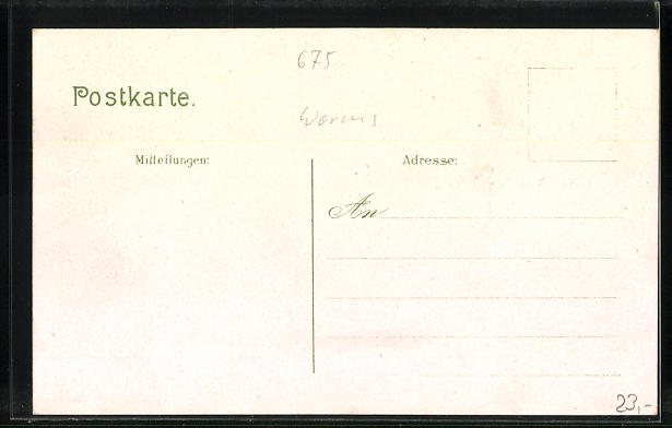 Lithographie Abenheim, Restaurant zum Bahnhof, Krieger-Denkmal, Bahnhof 1