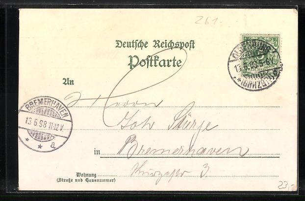 Lithographie Oldenburg i. Gr., Ansichten vom Union-Restaurant 1