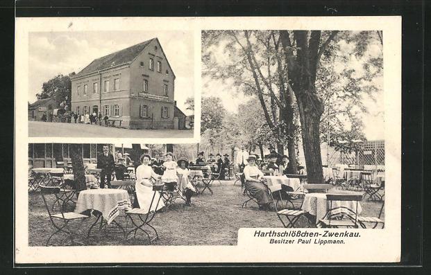 AK Zwenkau, Gasthaus Harthschlösschen von Paul Lippmann 0