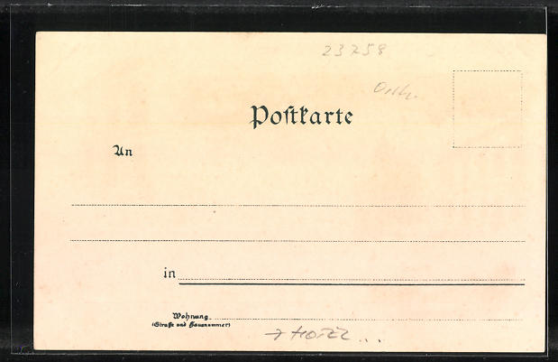 Lithographie Oldenburg / Holst., Scheibners Hotel, Hotel Stadt Hamburg, Post, Marktplatz 1