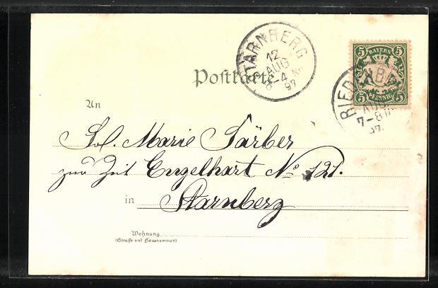 Lithographie Riedenburg, Schloss, Eggersberg, Sandersdorf, Rosenburg 1