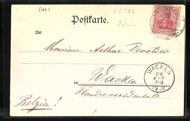 AK Heimbach, Hotel Pieper und Eifeler Hof, Teilansicht 1